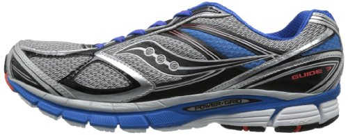 Saucony hombres Guide 7 Running zapatos,plata/azul/negro,10 M US