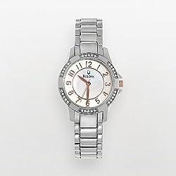 Bulova Stainless Steel Crystal & Mother-of-Pearl Watch - 96L161K - Women