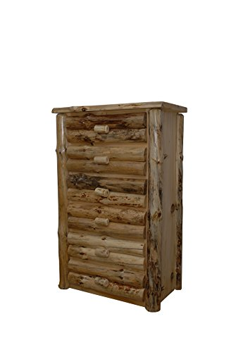 (Rustic Pine Half Log Drawer Chest *AVAILABLE IN 3 SIZES* (Clear Varnish, 4)