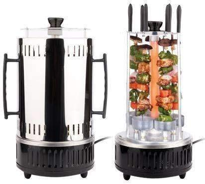 Proton tainless Steel 1000W Vertical BBQ Rotisserie Electric Rotating Grill Machine