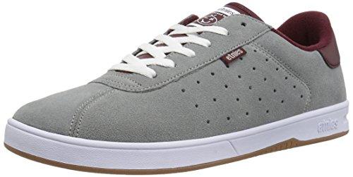Etnies Scam Skate Shoe Grey/Burgundy rwxd5MU