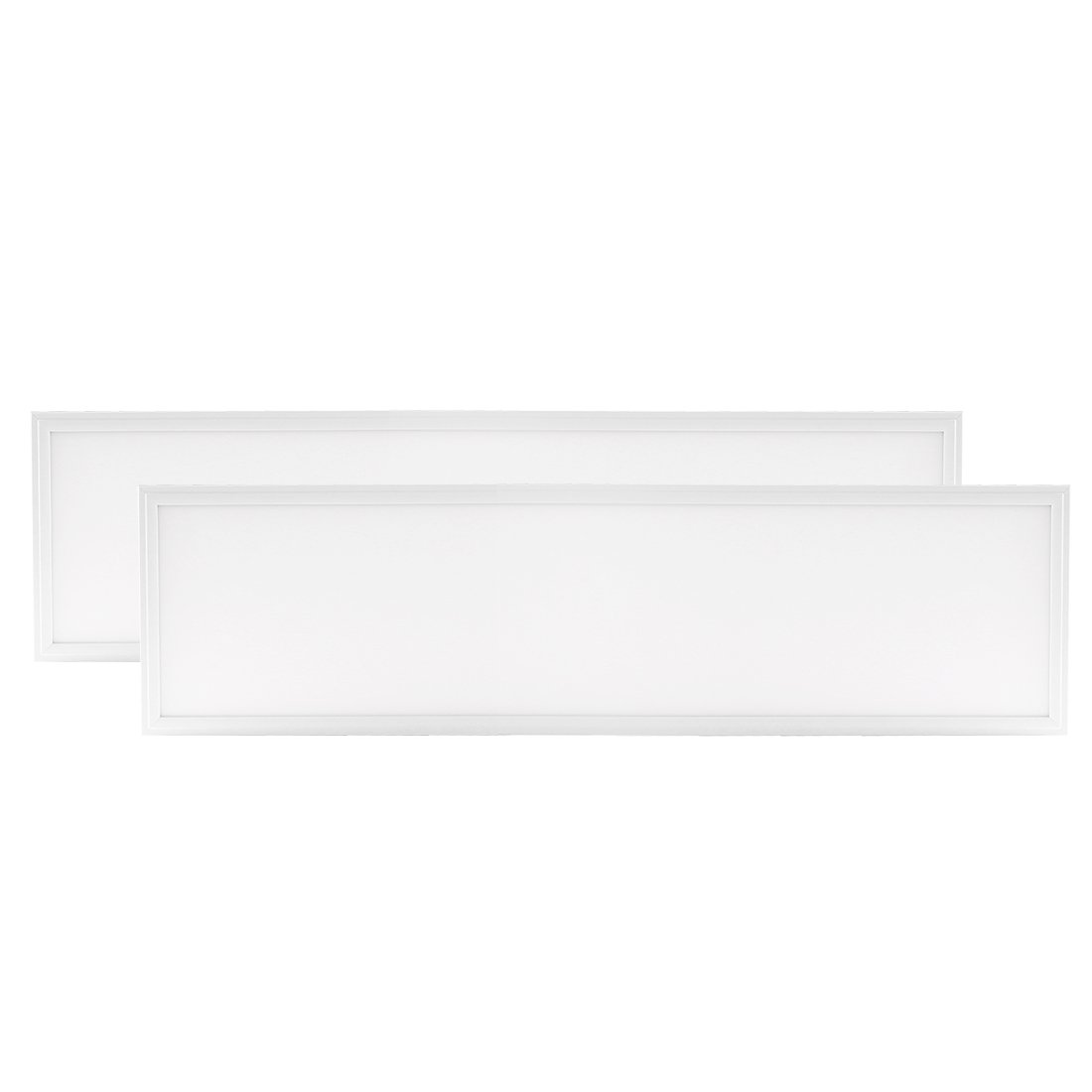 uxcell 2 Pack LED Panel Light, UL Listed, DLC-Qualified 1ft X 4ft 40W LED Flat Square LED Recessed Ceiling Light Panel Downlight Lamp Cool White 4000K