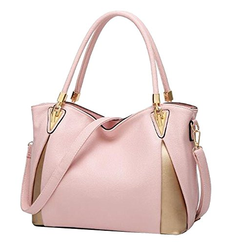 Joint Main à Pink Litchi Texture Bandoulière BAILIANG En Cuir Fendu à Sac Femme Sac qgEn6waS8