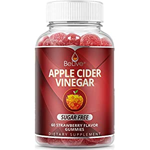 First Sugar-Free Apple Cider Vinegar Gummies with Unfiltered Mother Enzyme and Healthy Erythritol Sweetener- Helps with Detox, Cleanse & Bloating Relief for Women, Men, and Kids - 60 Count 63