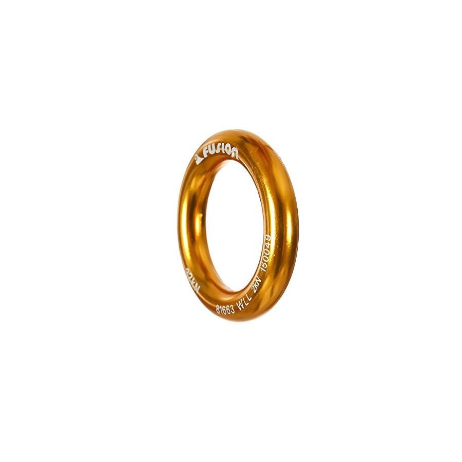 "Fusion Climb Perfect Tension Aluminum O Ring Large 2.625"" Gold 32KN"