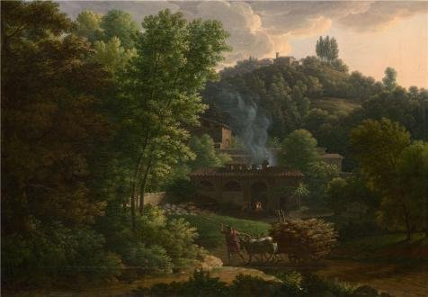 The High Quality Polyster Canvas Of Oil Painting 'Franois-Xavier Fabre - Italian Landscape,1811' ,size: 8x12 Inch / 20x29 Cm ,this Best Price Art Decorative Prints On Canvas Is Fit For Bedroom Decoration And Home Decoration And Gifts