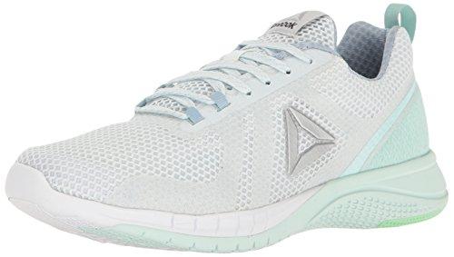 (Reebok Women's Print Run 2.0 Shoe, Polar Blue/Gable Grey/Mist/Mint Green/White/Silver, 7.5 M US)