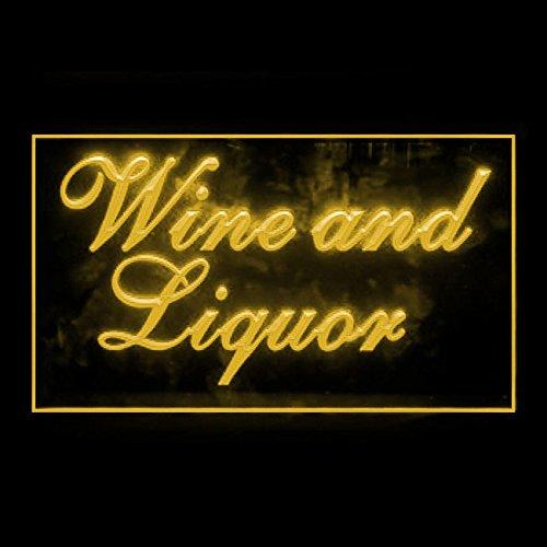 Wine and Liquor Night-reveller Alcohol Wild Retailer Gourmet LED Light Sign 170215 Color Yellow