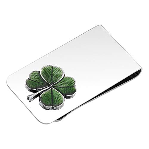 DANFORTH - Clover (Green) Money Clip - 2 Inches - Gift Boxed (Celtic Money Clip)