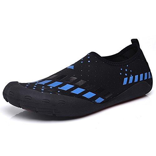 CIOR FANTINY Herren Wasser Schuhe Outdoor Sport Slip On Sneakers 14 Löcher Drainage System Quick Dry und Multifunktional L.bule