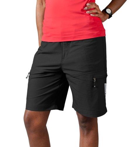 (AERO|TECH|DESIGNS Women's Multi-Sport Shorts, color Black, size XX-Large)