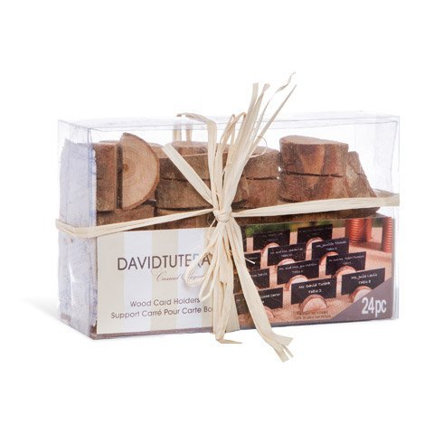 Darice David Tutera Rustic Wedding Wood Place Card Holders Brown: 24 pieces by Darice