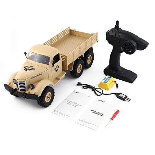 JJR/C Q60 1/16 2.4G 6WD RC Off-Road Camión Transportador Militar RC Vehículo de Control Remoto de Coche para Niños Regalo...