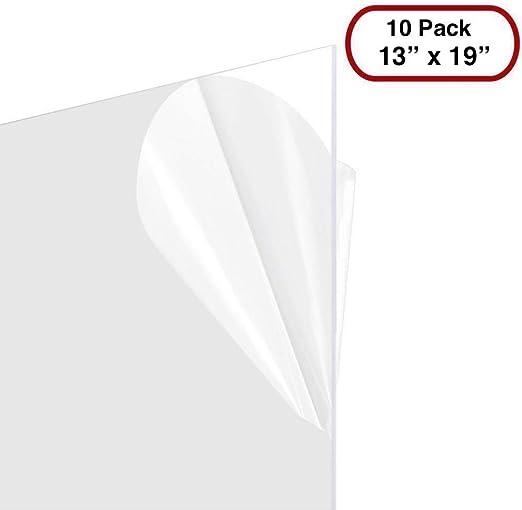Clear Styrene//Plexiglass 10 Sheets 11x14 .040 PETG