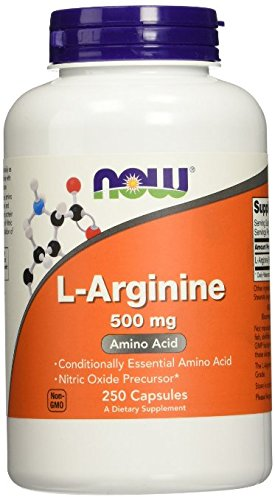 NOW Foods L-Arginine 500mg, aw1yg Pack of 750 Capsules