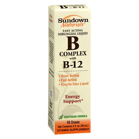 Sundown Naturals Sublingual B Complex with B-12 - 2PC