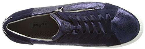 Paul Green Women's Cracked Met/Sz Saphir/Blau Trainers, Blue Multicolour (Saphir/Blau 12)