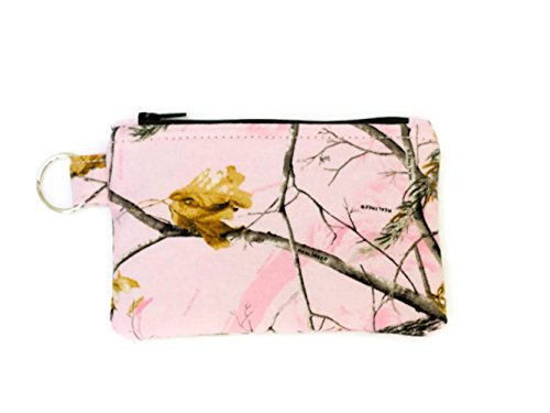 Pink-Camo-Keychain-Wallet-Coin-Purse-Small-Keychain-Pouch