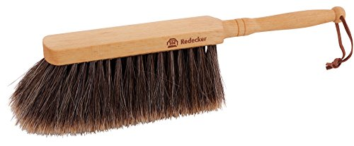 Redecker Horsehair Hand Brush with Oiled Beechwood Handle, 11-3/4-Inches