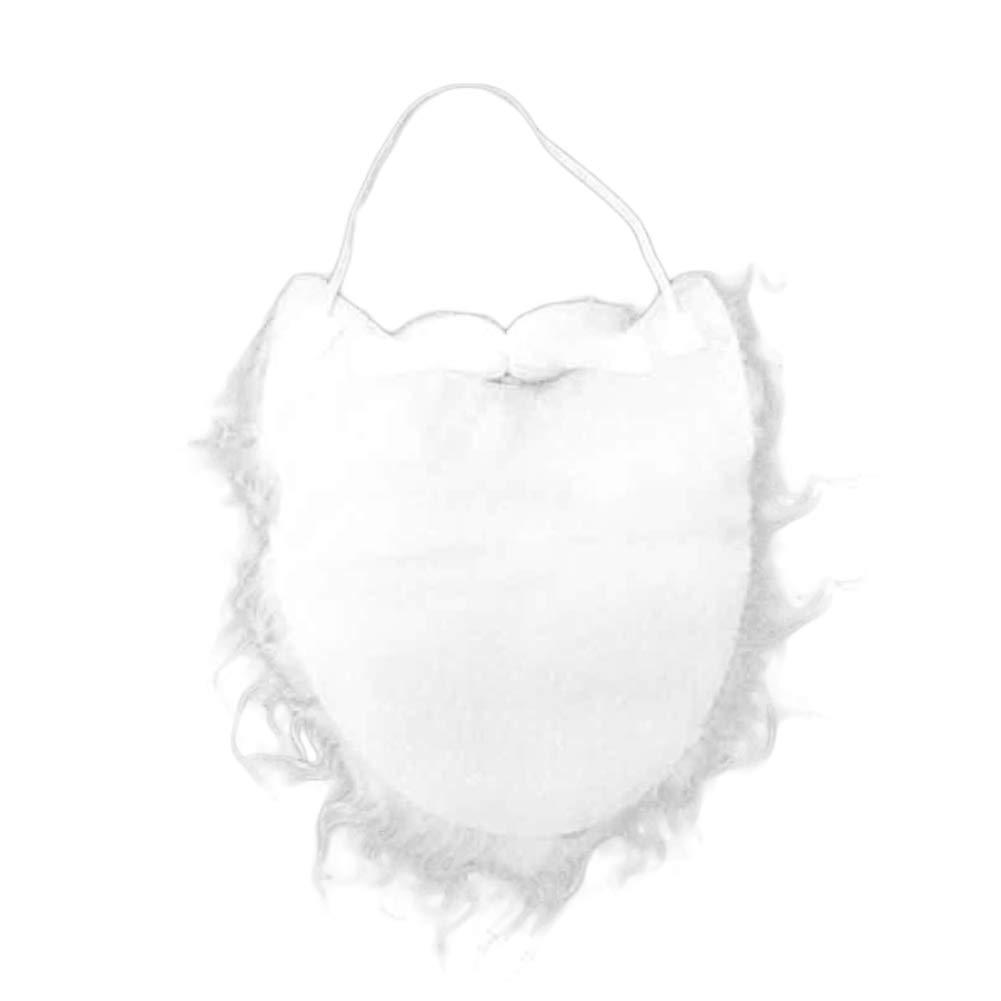 Quietcloud Faux Santa Claus Beard Mustache,Christmas Party Costume Props Cosplay Dress Up Decor