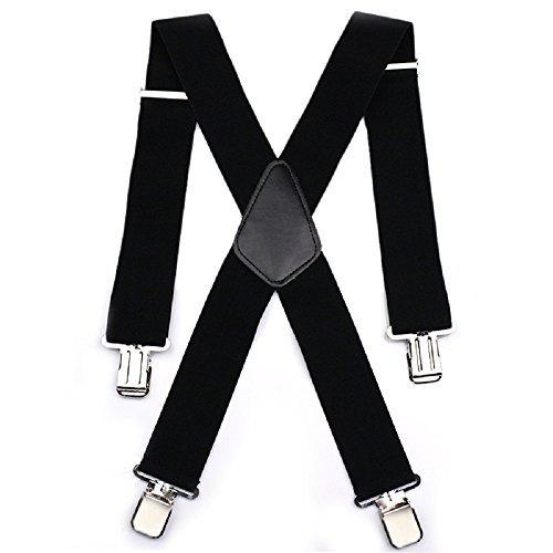 Bretelles de pantalon ajustables pour homme -  Eacute lastique noir large de  50 nbsp mm 606da1d43fb