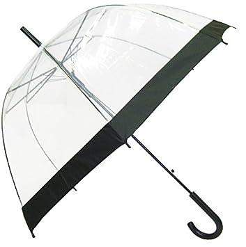 SMATI Paraguas Largo Transparente Forma de Campana automático-Estampado(Transparente): Amazon.es: Hogar
