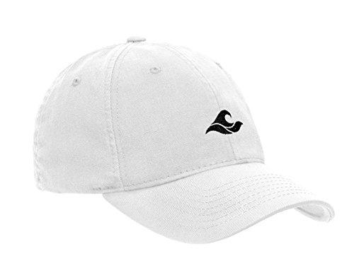 (Koloa Surf Wave Logo Soft & Cozy Adjustable Baseball Cap-White/b)