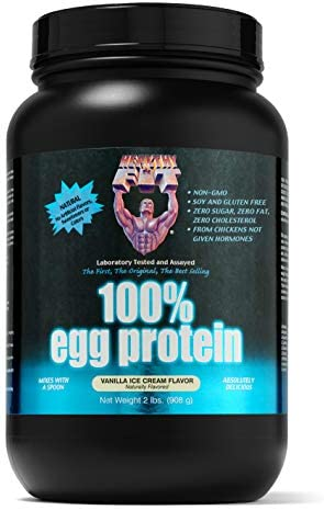 Healthy n Fit 100 Egg Protein, Vanilla Ice Cream, 2-pound Bottle