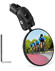Bike Mirror Handlebar End Side Mount, Bicycle Rear View Mirror, 360 Degrees Rotational Adjustable, Motorcycle Scooter Cycling Riding Safety Gear
