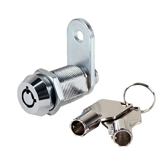 FJM Security MEI-2400AL-KD Tubular Cam Lock with 1-1/8 Cylinder and Chrome Finish, Keyed Different by FJM ()