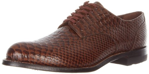 Stacy Adams Men's Madison Oxford,Brown Snakeskin,8.5 D US