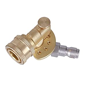Tools Pro Quick Connecting Pivoting Coupler for Pressure Washer Spray Nozzle 120 Degree 4500 PSI 1/4 Inch Plug