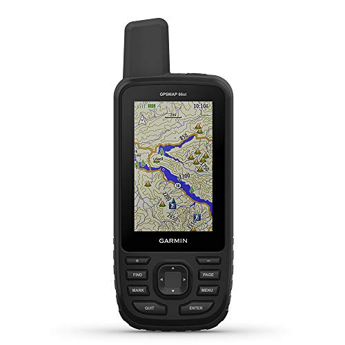 "Garmin GPSMAP 66st, Handheld Hiking GPS with 3"" Color Display, TOPO Maps and GPS/GLONASS/Galileo Support"