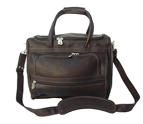 Piel Leather Leather Collection Piggy Back Carry On in Chocolate