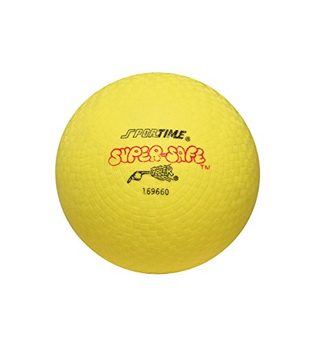 Sportime Super-Safe Rubber Playground Ball - 10 inch - Yellow