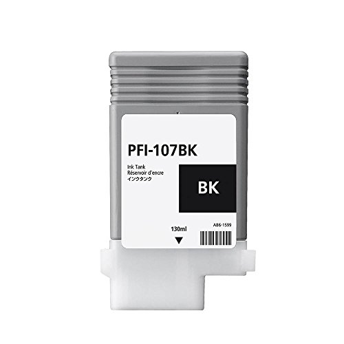 Toner Spot Remanufactured Ink Cartridge Replacement for Canon PFI-107Bk 6705B001 - Black