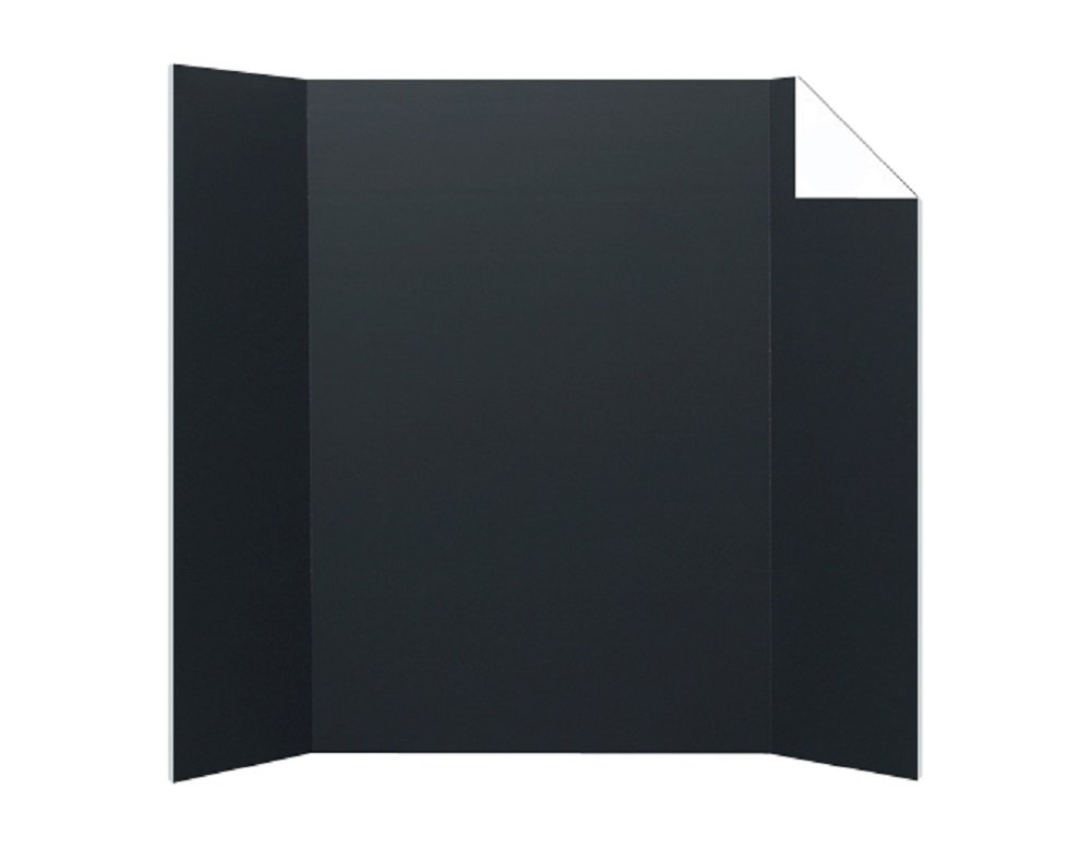 Pack of 24 Black/White Corrugated Project Boards (1-Ply; 36x48in)