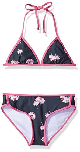 (O'Neill Big Girls' Daisy Chain Tri Top Swimsuit, Titanium/Steel,)