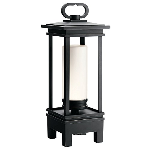 Kichler 49473RZLED South Hope Portable Bluetooth Speaker Outdoor Lantern, 1 Light LED 7 Watts, Rubbed Bronze (1 Portable Light Lantern Post)