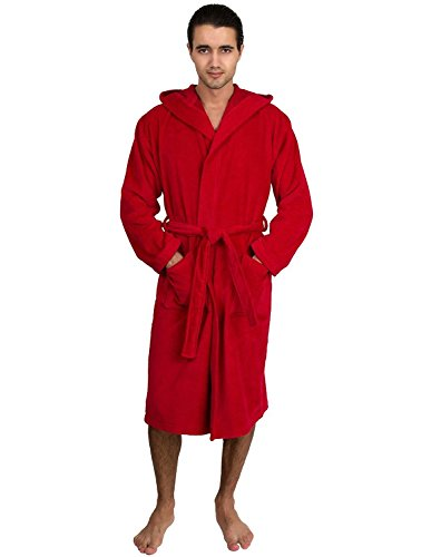 Heavyweight Terry Robe (TowelSelections Men's Robe, Hooded Terry Velour Cotton Bathrobe Large/XLarge)