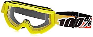 100% unisex-adult Goggle (Yellow,Clear,One Size) (STRATA MX STRATA SUNNY DAY)