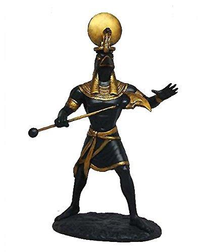 Ancient Egyptian Decorative Sun God Ra Figurine Falcon Head Statue Creator Deity