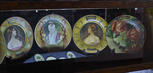 (2014 Photo Vintage decorative plates advertising the Dr Pepper soft drink at the Dublin Bottling Works and W.P. Kloster Museum in Dublin, Texas Location: Dublin, Texas)