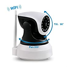 Wifi IP Camera Wireless Home Security Trailer Cameras Dog/ Baby Monitor Video Nanny Cam Night Vision plug/play Pan/Tilt with Two-Way Audio