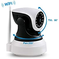 BENTOO IR ip camera Surveillance Cameras Wifi IP Dome Camera Wireless Home Security Camera Trailer Cameras Dog/ Baby Monitor Video Camera Night Vision plug/play Pan/Tilt with Two-Way Audio