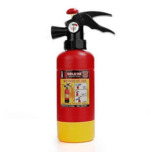 SGS Toy Fire Extinguisher Portable Squirter Water Gun Toy For Kids Halloween Firefighter Costume Gift 12""