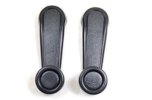 PT Auto Warehouse TO-1021G-P - Inside Window Crank Door Handle, Gray - Left/Right Pair (00 Toyota Tacoma Pickup)
