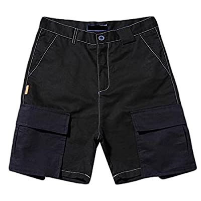 Papijam Men's Baggy Hit Color Patched Soft Splice Beach Cargo Shorts supplier