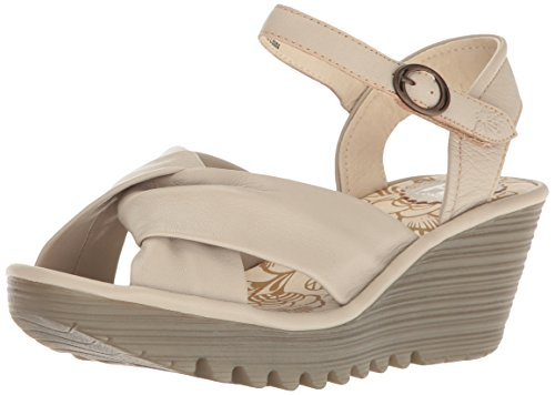 Fly London Kvinners Yesh712fly Plattform Sandal Betong Mousse
