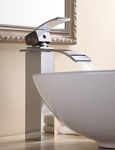 Zeitgenössische Chrome Ein Loch Einhand Fahrzeug WasserfaÖl Waschbecken Wasserhahn
